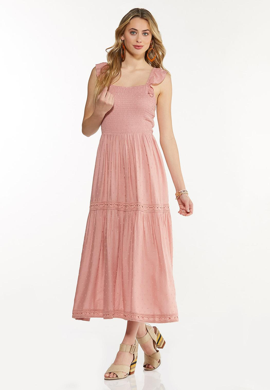 Smocked Blush Midi Dress