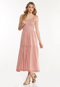 Plus Size Smocked Blush Midi Dress