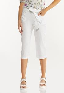 Cropped Poplin Utility Pants