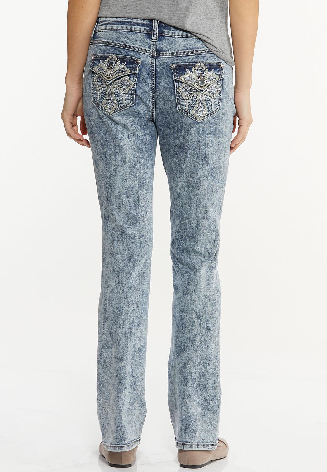 Petite Dark Vintage Wash Jeans