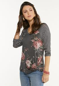 Twisted Floral Top