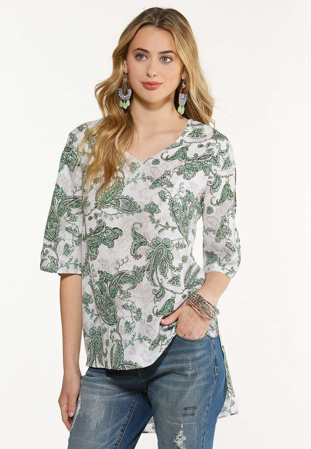 Paisley Ladder Sleeve Top