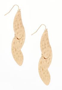 Layered Gold Petal Earrings