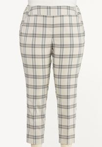 Plus Size Shell Plaid Bengaline Pants