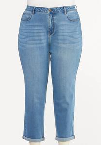 Plus Size Casual Boyfriend Jeans