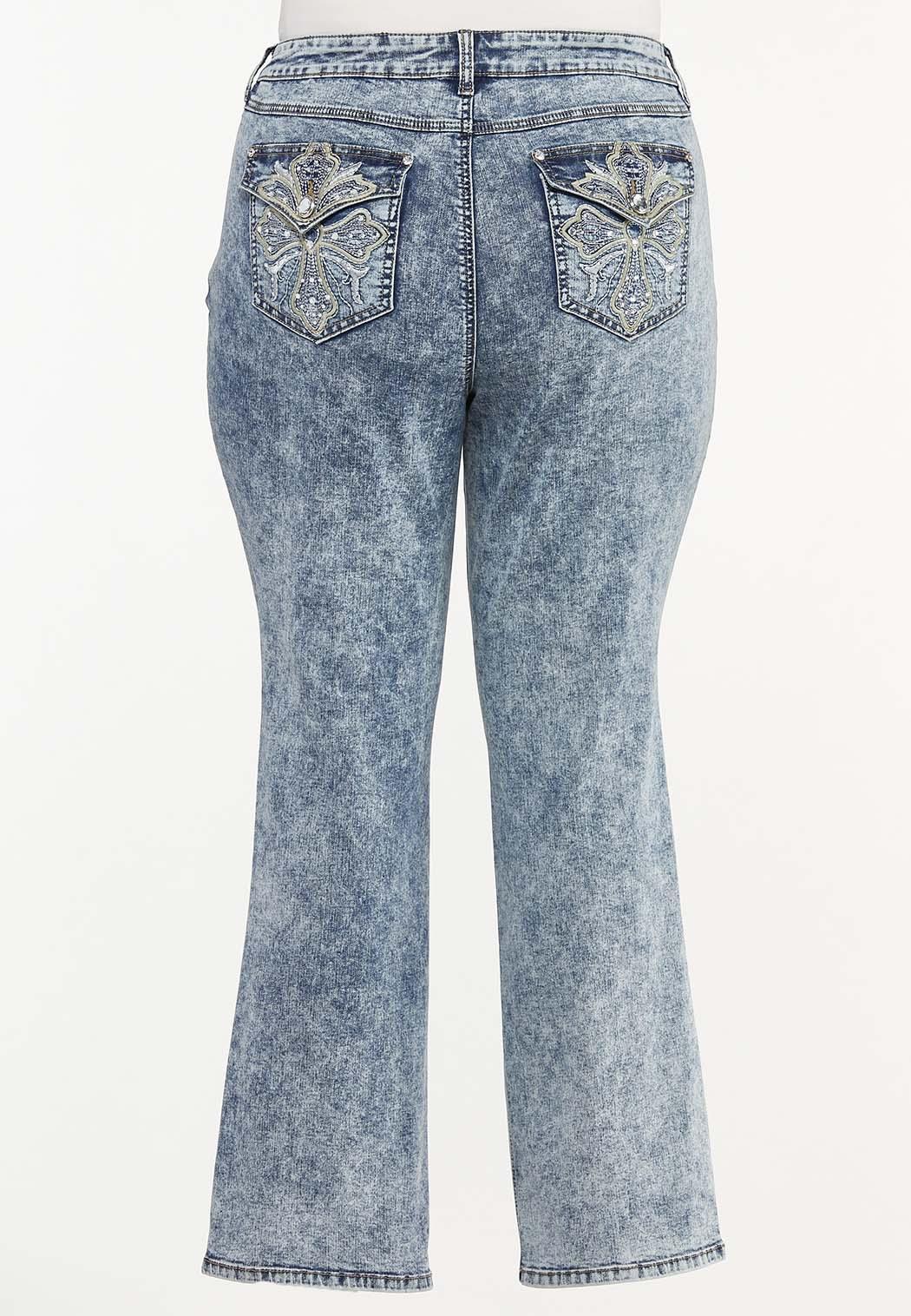 Plus Size Dark Vintage Wash Jeans
