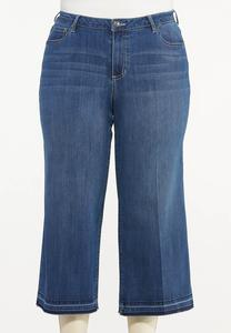 Plus Size Cropped Released-Hem Jeans