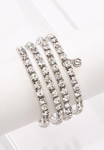 Rhinestone Stretch Bracelet Set
