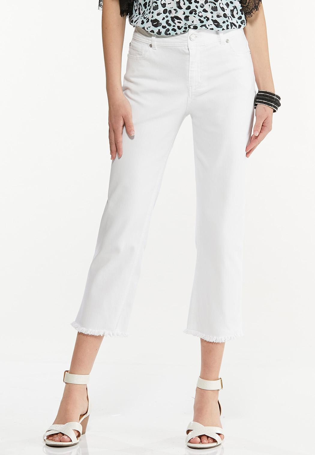 Frayed High Rise Jeans