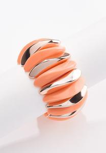 Modern Wide Band Stretch Bracelet