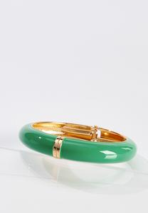 Green Cuffed Bangle Bracelet