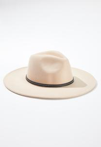 Studded Band Panama Hat