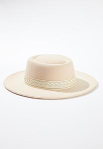 Fabric Band Fashion Hat