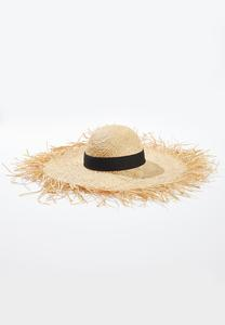 Oversized Straw Floppy Hat