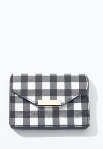 Gingham Mini Wallet