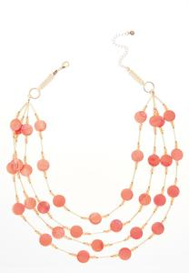 Floating Shell Layered Necklace