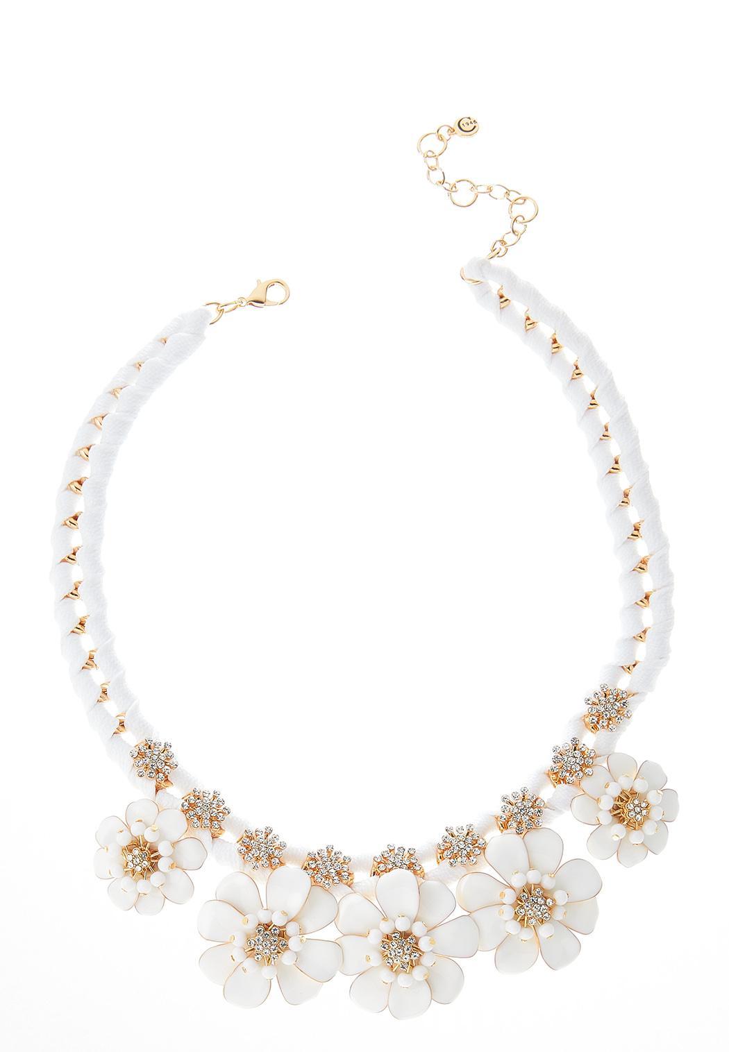 Matte Flower Shoelace Necklace