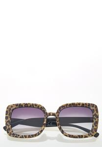 Leopard Square Sunglasses