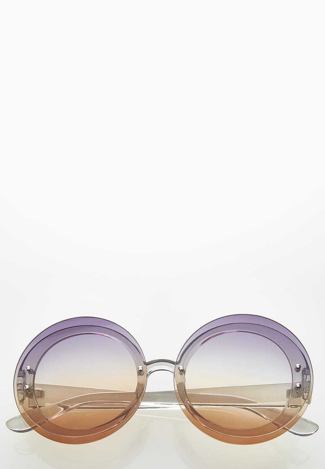 Jenna Ombre Round Sunglasses
