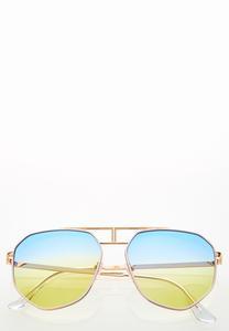 Jenelle Ombre Aviator Sunglasses