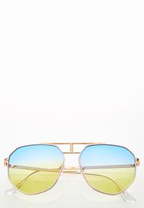Ombre Ocean Aviator Sunglasses
