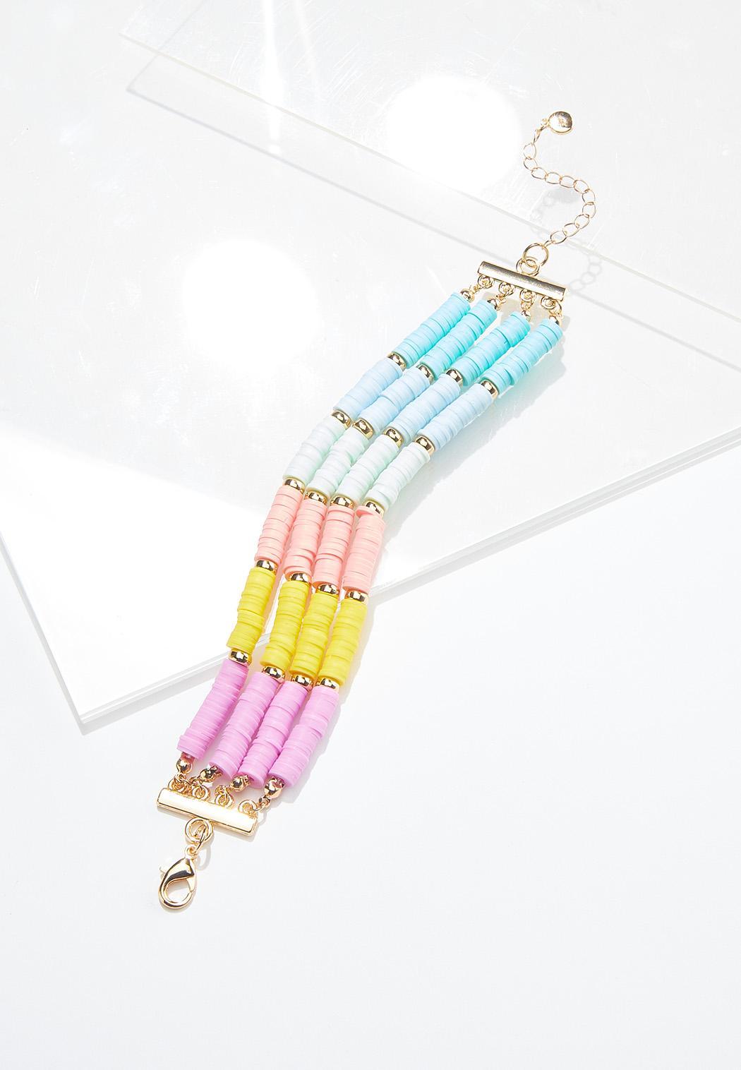 Rainbow Disc Wrap Bracelet