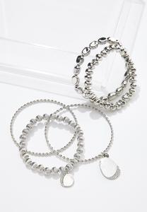 XL Silver Twist Bracelet Set