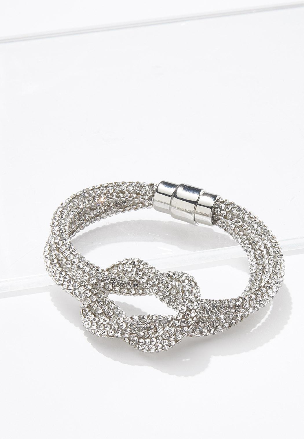 Rhinestone Mesh Magnetic Bracelet