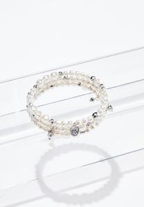 Coil Band Pearl Bracelet