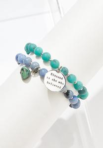 Blessed Who Believed Bracelet Set