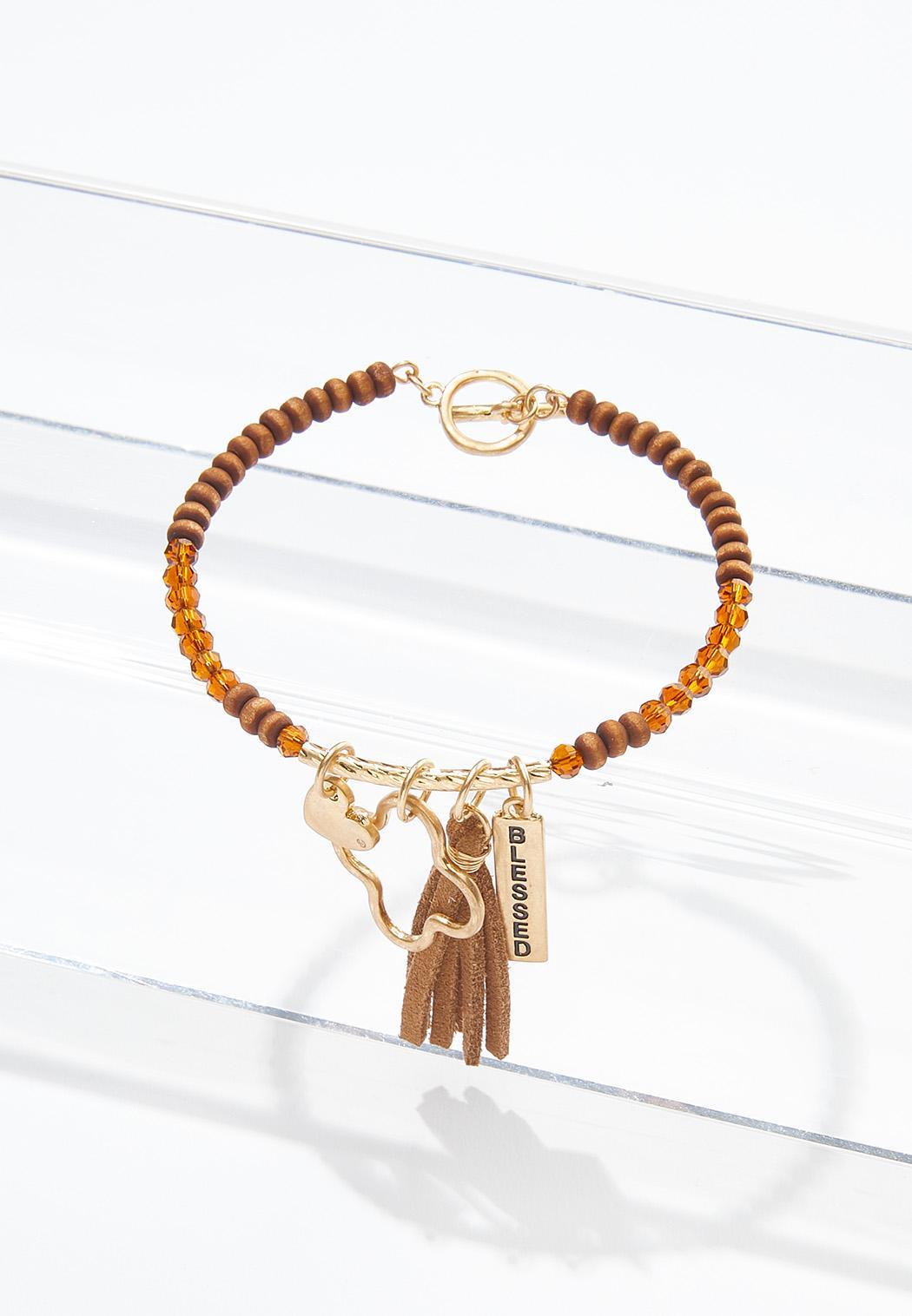 Blessed Charm Wood Bracelet