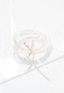 Delicate Pearl Bracelet Set