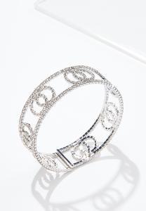 Rhinestone Flex Cuff Bracelet