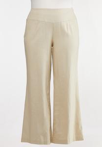 Plus Size Pull-On Linen Pants