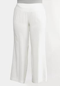 Plus Size Pull-On Linen Pants