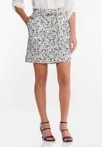 Stretch Floral Skirt
