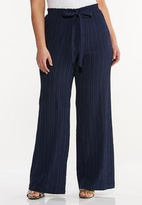 Plus Size Textured Palazzo Pants