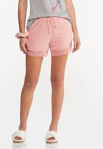 Lace Trim Sleep Shorts