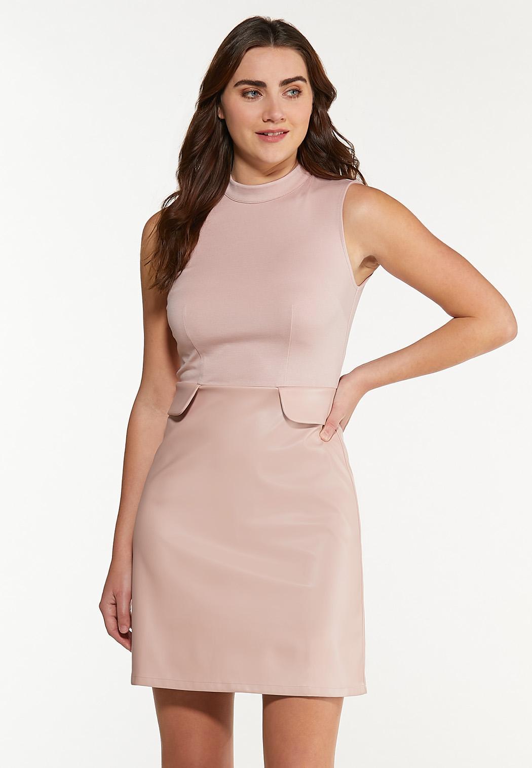 Blush Mock Neck Dress