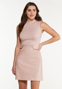 Blush Mock Neck Dress