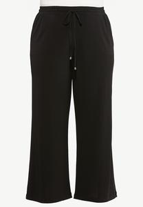 Plus Size Solid High- Rise Pants