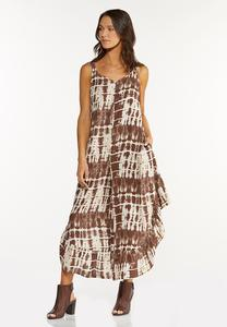Brown Tie Dye Jumpsuit