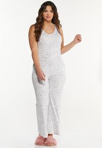 Plus Size Cozy Leopard Jumpsuit