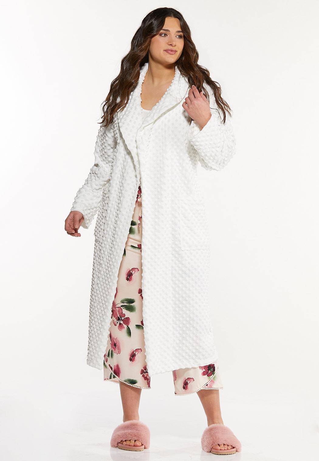 Plus Size Textured Cozy Robe