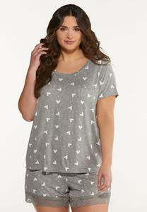 Plus Size Heart Sleep Tee