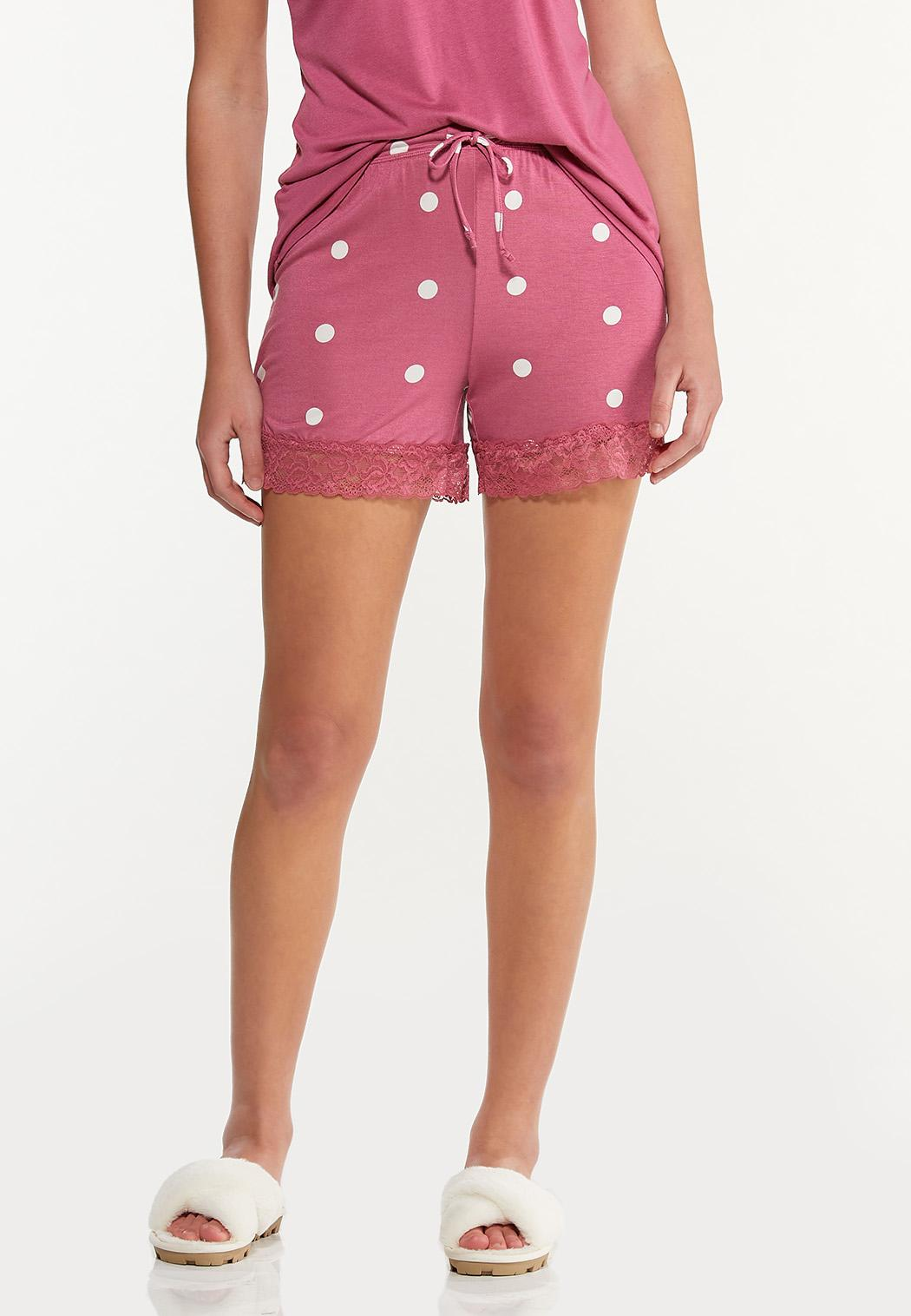 Dotted Lace Sleep Shorts