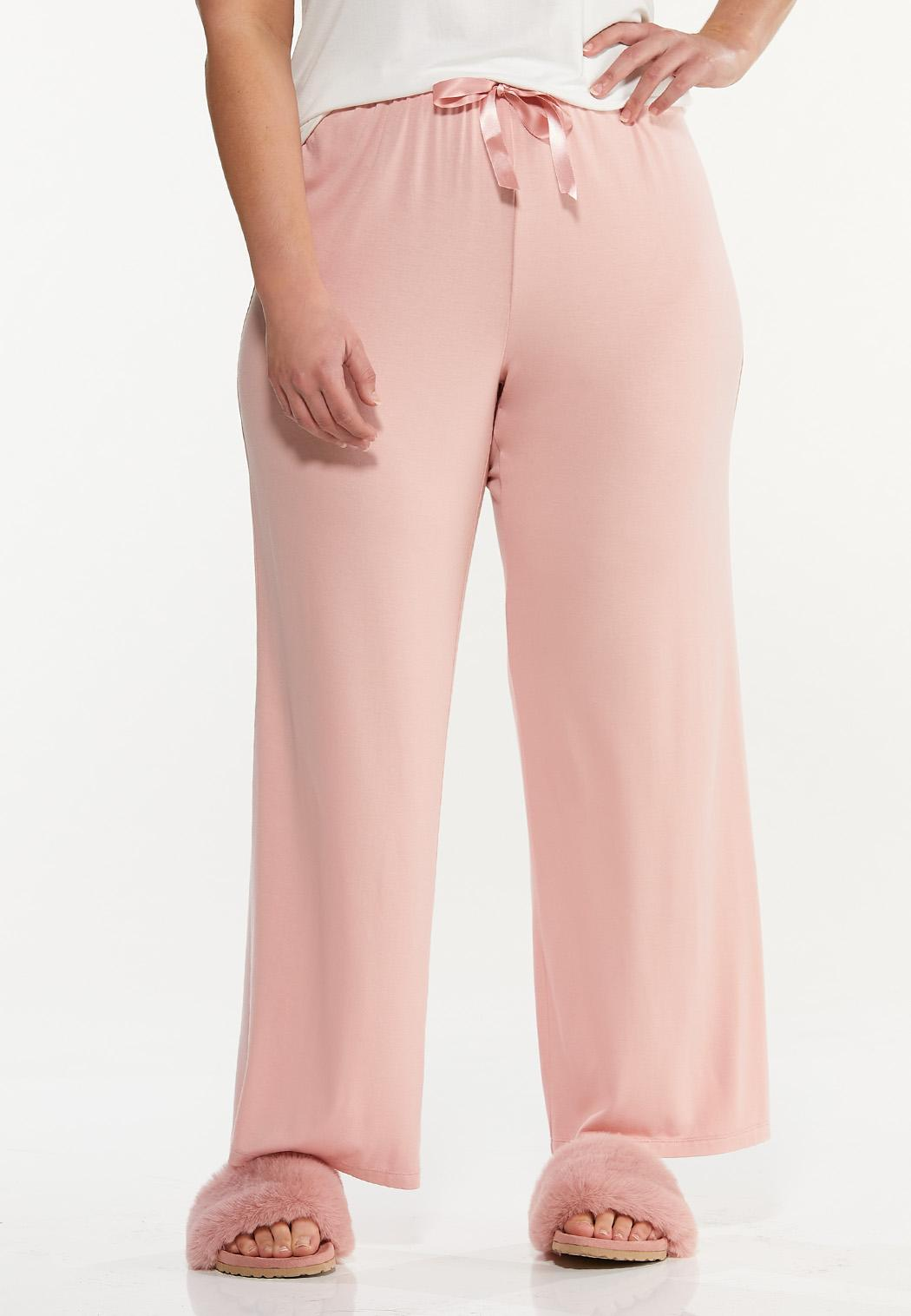 Plus Size Pink Sleep Pants