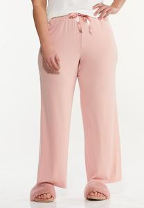Plus Size Pink Sleep Pants