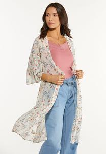 Plus Size Toss The Bouquet Kimono
