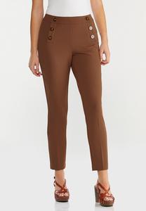 Sailor Button Slim Leg Pants